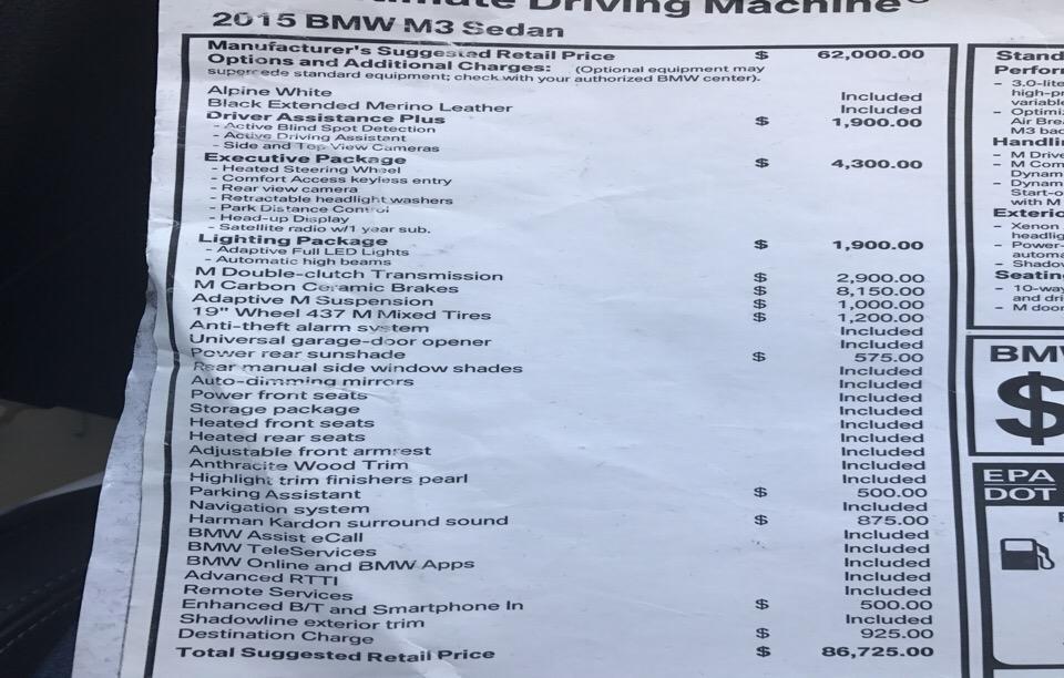 2015 BMW M3 - photo 1