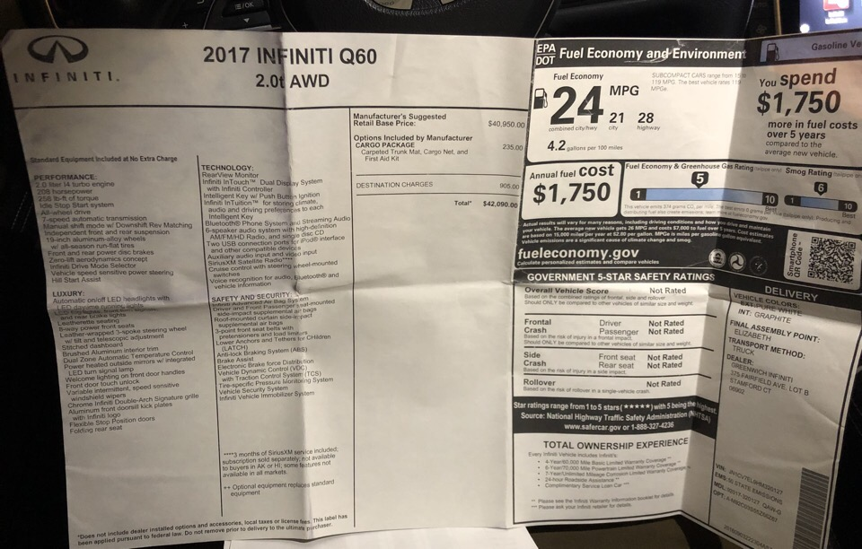 2017 Infiniti Q60 - photo 14