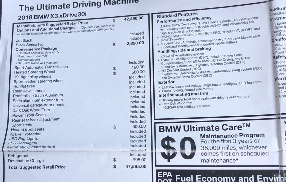 2018 BMW X3 - photo 5